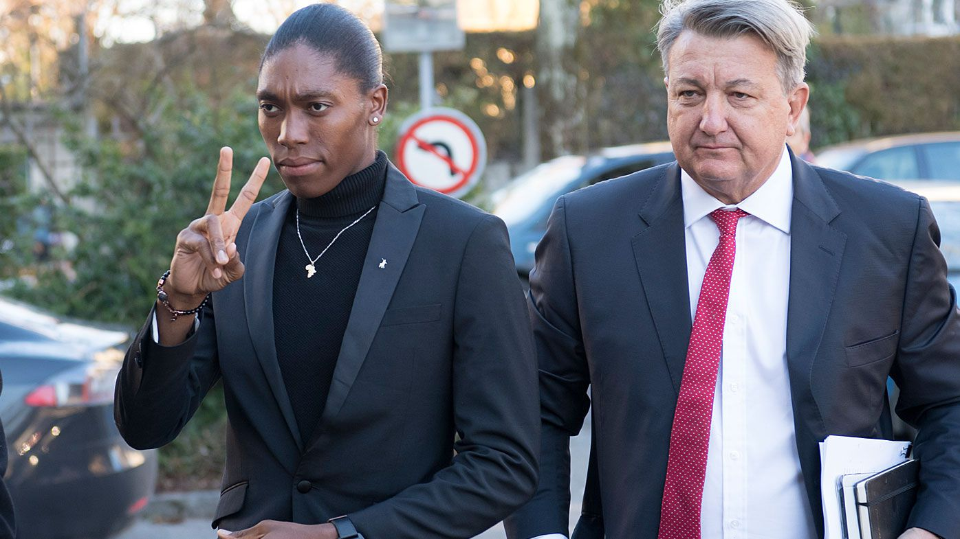 South Africa's runner Caster Semenya