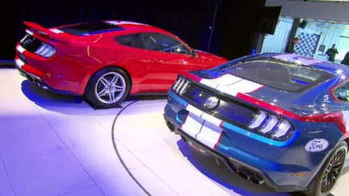 Ready to race: the new Mustang model has been unveiled. (9NEWS)