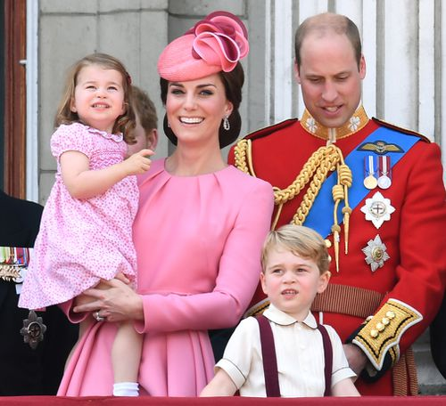The Cambridges at Buckingham Palace. (PA/AAP)