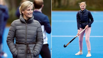 Countess of Wessex and Lady Louise at hockey centre, January 2020