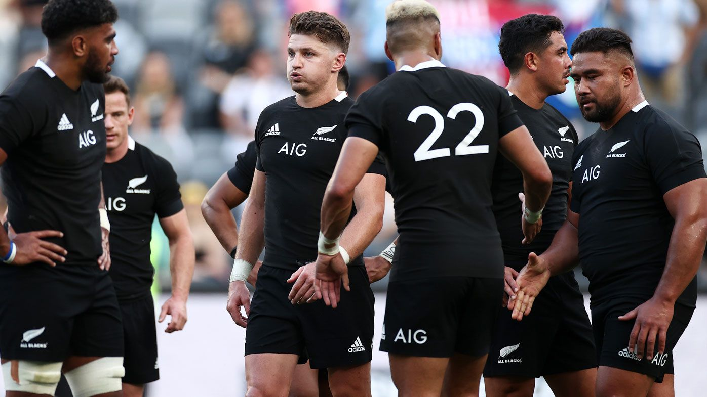 The All Blacks coughed up their first loss ever to the Pumas at Bankwest Stadium on Saturday. (Getty)