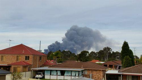 A view of the smoke from Erskine Park. (Jessie Seymour)