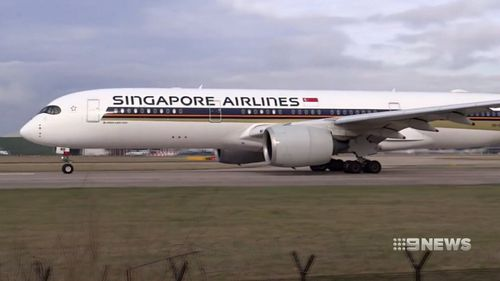 Ready for take-off: Singapore Airlines' new aircraft.