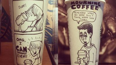 What began as a simple hobby has now become a project called #100CoffeeCups, with 78 cups so far being decorated.