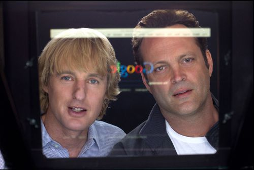 Owen Wilson, left, and Vince Vaughn in a scene from The Internship. Picture: AAP