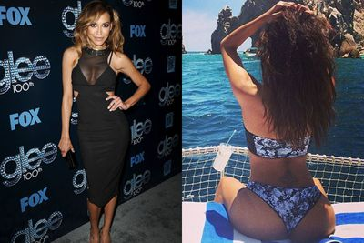 Erm, is that you Naya? Three months after her nasty break-up with Big Sean, Naya married actor Ryan Dorsey... on the day she was <i>supposed</I> to tie the knot with her ex-fiance! <br/><br/>As the new Mrs Rivera-Dorsey, Naya shed her snooze image, flaunted her naughty bits on Instagram and perfected the butt selfie.
