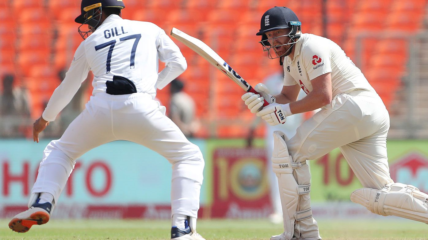 England's Jonny Bairstow batting in the fourth Test against India.