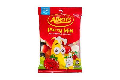 Allen's Party Mix: at least 290kj/69 calories