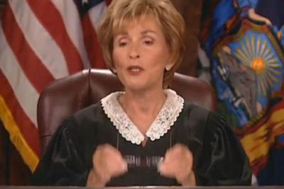 """<b>Judge Judy Pearl of Wisdom:</b> """"I am a truth machine, sir."""""""