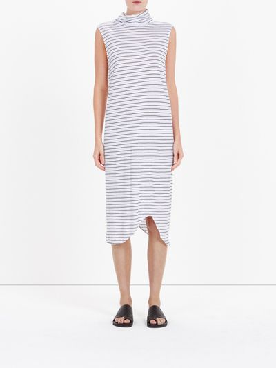 "Poolside Chic cool<br /> Colour's not your thing? Turn to Bassike for a dress that positively reeks of beach house living.<br /> <br /> <a href=""http://www.bassike.com/women/dresses/stripe-funnel-neck-tank-dress-ss16wjd128-wht-blk"" target=""_blank"">Bassike</a> stripe funnel neck tanks dress, $150"