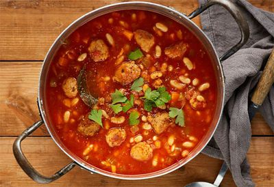 "Recipe: <a href=""http://kitchen.nine.com.au/2016/05/20/09/58/cassoulet-style-sausage-and-bean-soup"" target=""_top"">Cassoulet style sausage and bean soup</a>"