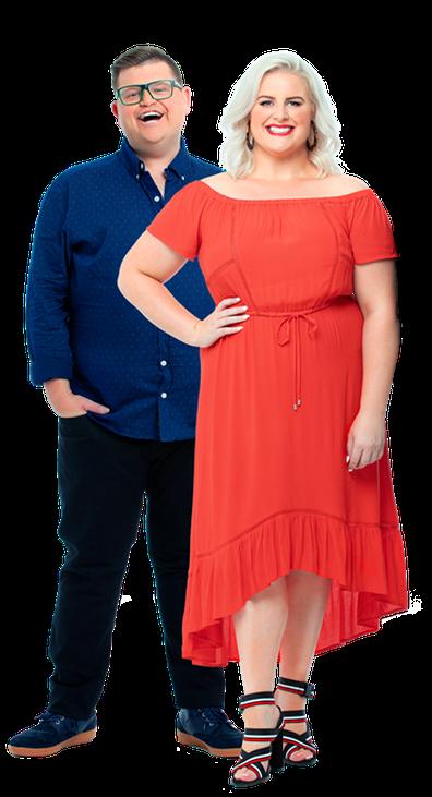 Gabi Elgood and Hit Queensland Breakfast host, Cliffo