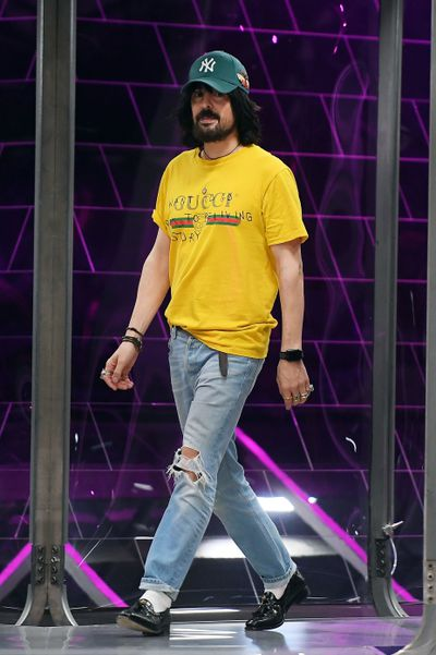 <p>Alessandro Michele at Gucci, autumn/winter '17. &nbsp;</p> <p><strong>The look:</strong> Italian street chic. Perfect for a trip to the Milk Bar.</p>