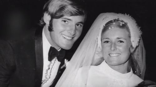Wedding photo of Chris and Lynette Dawson.