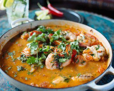 "Recipe:&nbsp;<a href=""http://kitchen.nine.com.au/2016/08/05/11/43/adam-liaws-mocqueca-brazilian-fish-stew"" target=""_top"" draggable=""false"">Adam Liaw's mocqueca (Brazilian fish stew)</a>"