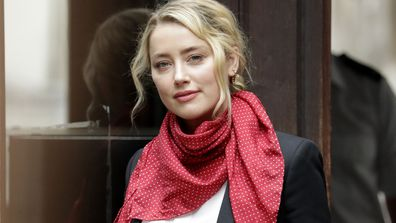 Amber Heard arrives at the Royal Courts of Justice, the Strand on July 24, 2020 in London, England