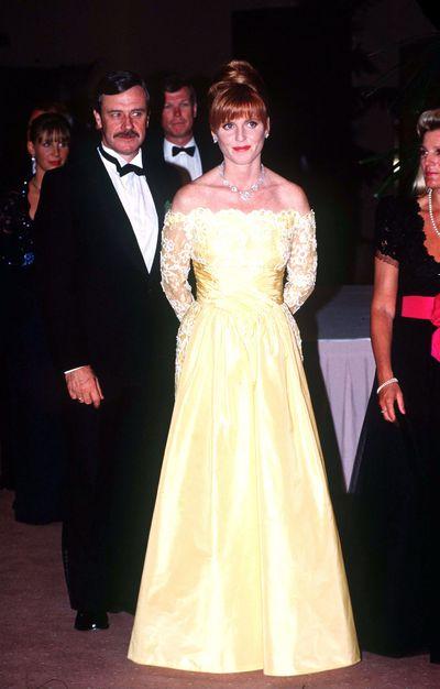 Sarah, Duchesss Of York, at a banquet in Australia1990.