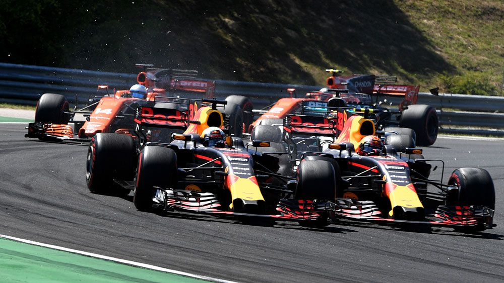 Australia's Daniel Ricciardo brands Max Verstappen a 'f---ing sore loser' after deliberate crash at Hungarian Grand Prix