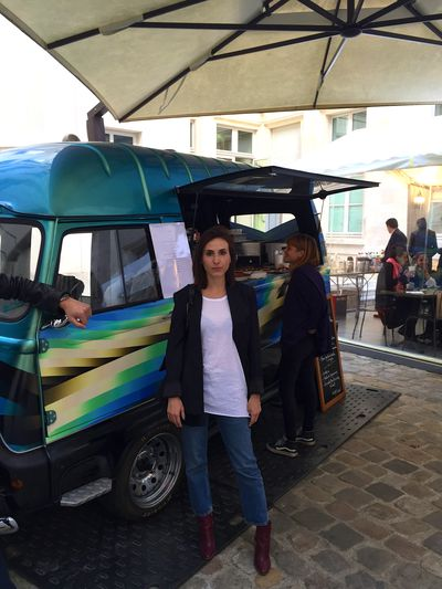 Kenzo is always a delight. A staple at the showroom is their infamous food van, which is stocked with treats.