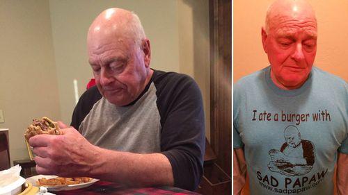 Sad US grandpa extends open invitation to burger cookout