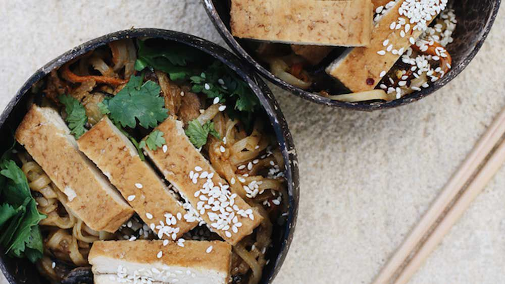 Peanut butter tofu stir fry
