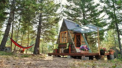 A tiny A-frame cabin that cost just $880 and three weeks to