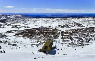 Perisher ski resort snow