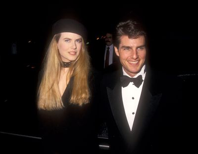 Nicole Kidman and Tom Cruise at the 1993 Golden Globes