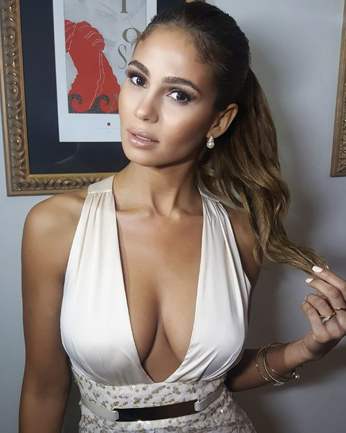 Greice Santo, Brazilian model and actress in Jane the Virgin, is married to R.J. Cipriani. Santo and her family also recieved threats from Owen Hanson, as the former USC footballer tried to recover a debt of $2.5million. (Supplied)