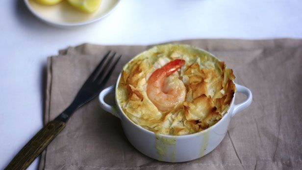 Seafood pie