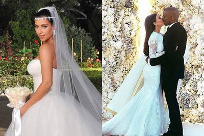 Three Times A Bride Kim Kardashian S Weddings Compared