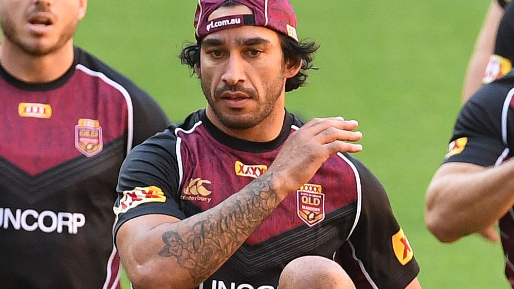 Queensland five-eighth Johnathan Thurston sends scare through Maroons camp