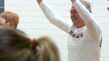 AFL legend Sheedy shimmies for the sake of seniors' health