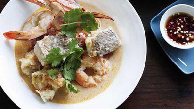"""Brigitte Hafner's <a href=""""http://kitchen.nine.com.au/2016/05/17/10/09/brigitte-hafner-crab-prawn-lemongrass-and-coconut-soup"""" target=""""_top"""">crab, prawn, lemongrass and coconut soup</a> recipe"""