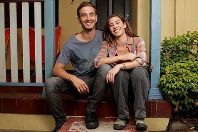 Ryan's first mainstream role was as Coby Jennings in <i>Packed to the Rafters</i> (2009 to 2013).<br/><br/>Image: Posing with <i>Packed to the Rafters</i> co-star Brooke Satchwell / Seven Network