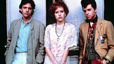 Andrew McCarthy, Molly Ringwald and Jon Cryer in the 1986 movie Pretty in Pink.