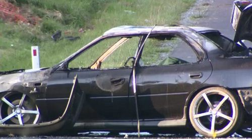 Police are working to identify the driver who died in the Kurwongbah crash. (9NEWS)