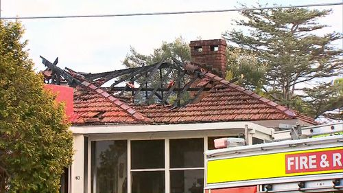 The blaze has caused significant damage to the property in Sydney's inner west.