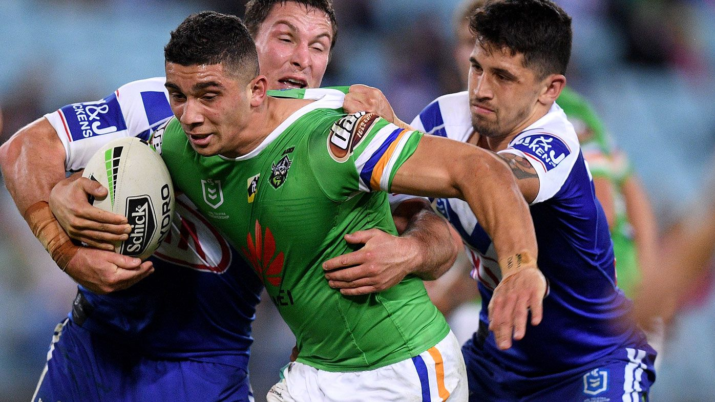 Alleged eye-gouge taints Raiders' tight win over Bulldogs