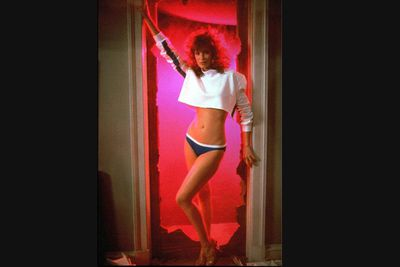 "Weird indeed. And totally ridiculous, but still loads of fun. Two geeks (Anthony Michael Hall and Ilan Mitchell-Smith) create their perfect woman (Kelly LeBrock, pictured), whose first words are: ""So what would you little maniacs like to do first?"" Being teenage boys, we know just what they're thinking ... but bless 'em, they're too chicken."