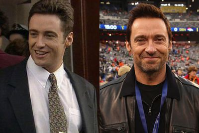 THEN: Hugh Jackman in 1995, guest starring on <i>Blue Heelers</i>.<br/><br/>NOW: At the 2014 Super Bowl, Hugh shows he's still got that dorky handsome appeal.