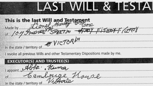 Mr Cox's will.