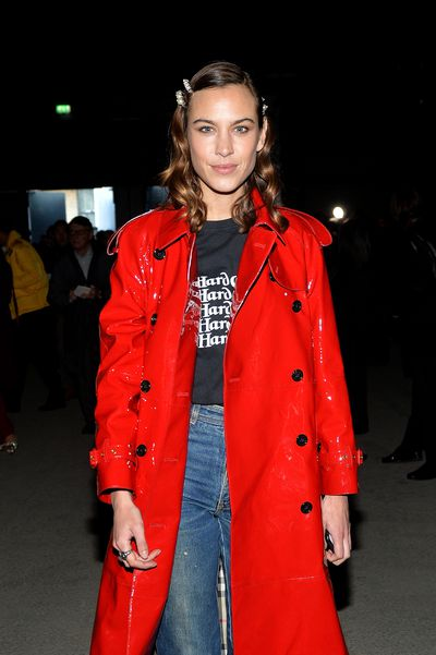 Alexa Chung at Burberry A/W '18, London Fashion Week
