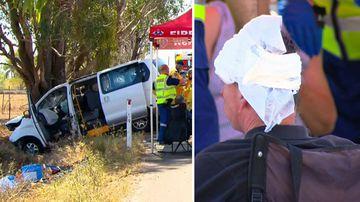 Eight people hospitalised after mini bus crash