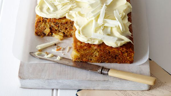Carrot Cake with white chocolate icing