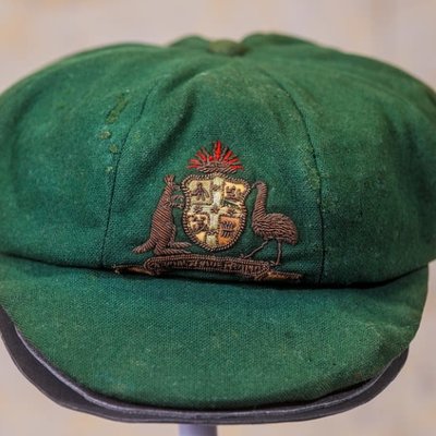 Sir Donald Bradman's first ever baggy green sold to RODE founder
