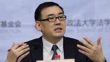 Chinese-Australian writer Yang Hengjun attends a lecture at Beijing Institute of Technology in Beijing, China, in 2010.
