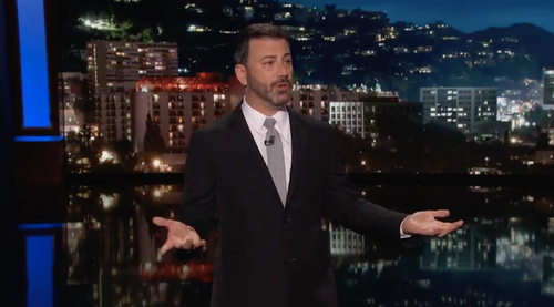 Las Vegas local Jimmy Kimmel came out swinging in the wake of the massacre. (Supplied)