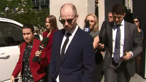 Jordan Baklas outside of Brisbane Court today.