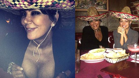 Kris Jenner flashes epic cleavage while 'drunk' with Khloe K and Nicole Richie
